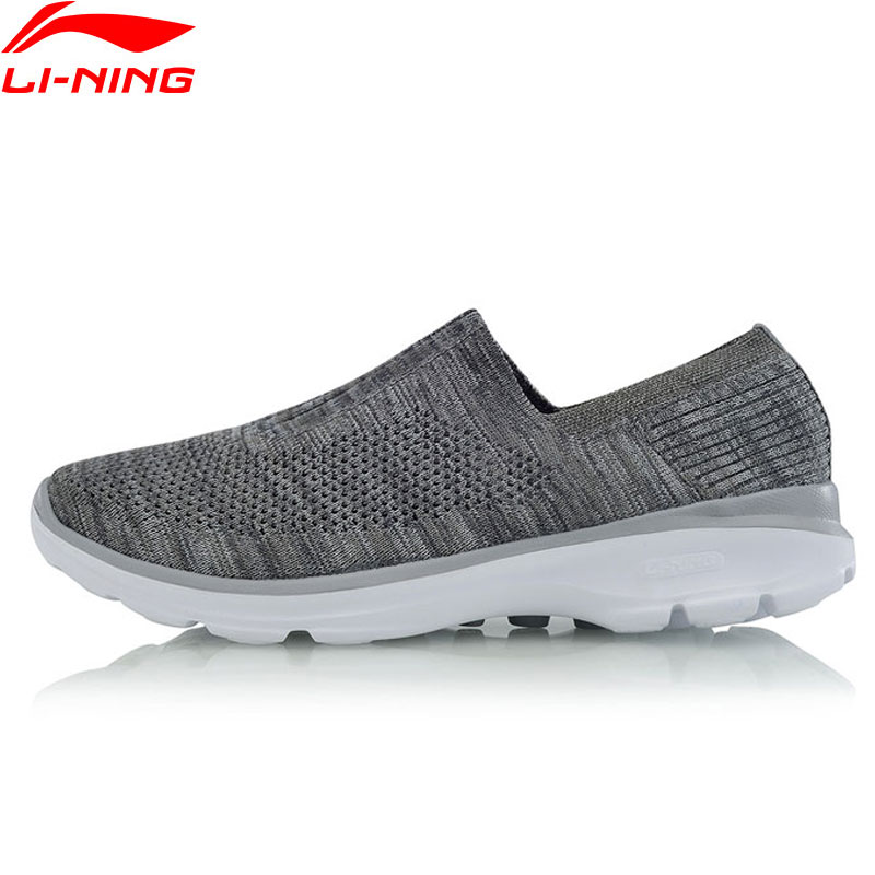 Li Ning Men's Walking Shoes Easy Walker Light Weight Cushion Breathable Sneakers LiNing Sport Shoes AGCM101 YXB061