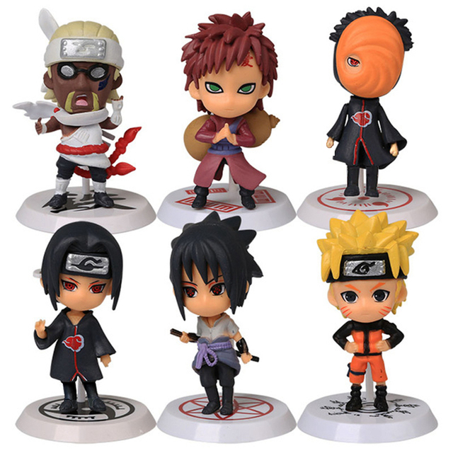 Classic Figurine 6pcs/set Naruto PVC Action Figure Toys Full Set Model Collection Free Shipping