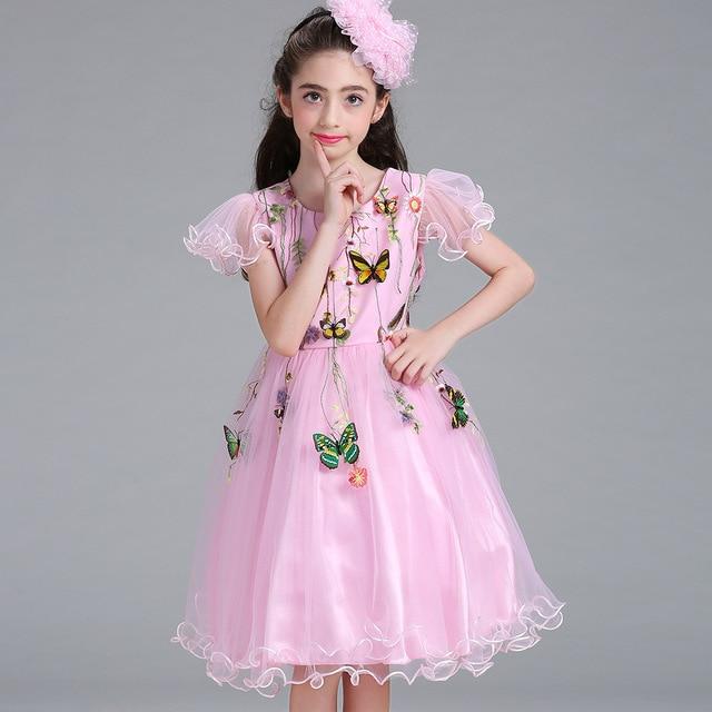 Anak Anak Gaun Kupu Kupu Bunga Gadis Gaun Gaun Pengantin Anak