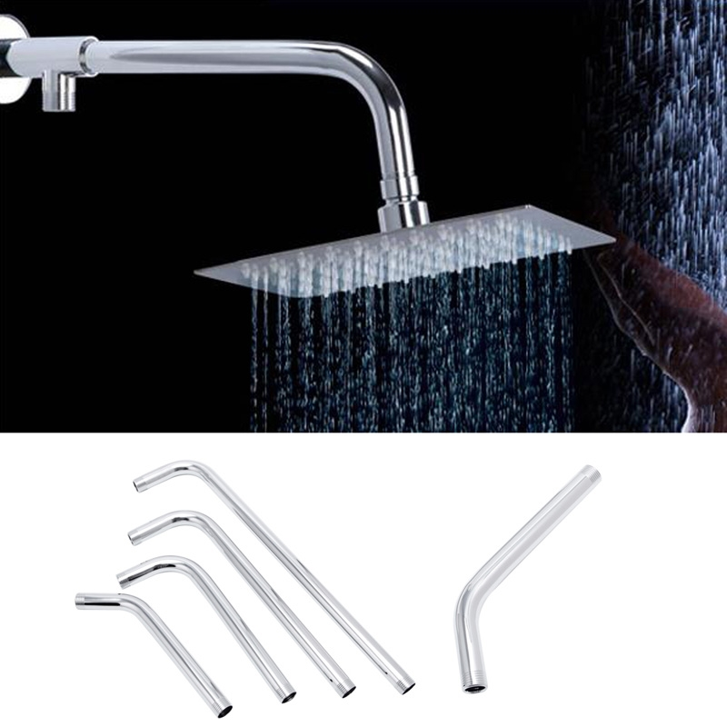 2018 Thread G1/2 Stainless Steel Wall Mounted Tube Rainfall Shower Head Arm Bracket