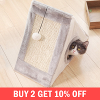 Funny Cats Scratchers Boards Cloth House Protecting Furniture Grinding Claws Cat Climbing Playing Toy Pet Supplies Products Item