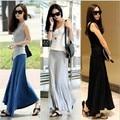 2017 New Fashion Women Modal Comfortable Soft Big Skirt Slim full-length  feminino saia