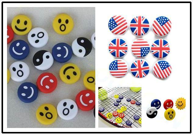 Smile National Flag Tennis Racket Damper Shock Absorber To Reduce Tenis Racquet Vibration Dampeners Raqueta Tenis Pro Staff