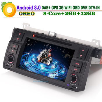 Android 8.0 Car DAB+ DVD WiFi 3G RDS Radio Player DTV-IN CAM-IN GPS SatNav DVR Car CD player for BMW E46 3er M3 MG ZT Rover 75