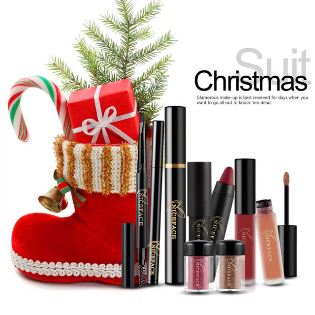 best deal new christmas makeup kits gift set eyeshadow powder lip gloss eyelash lipstick kit make