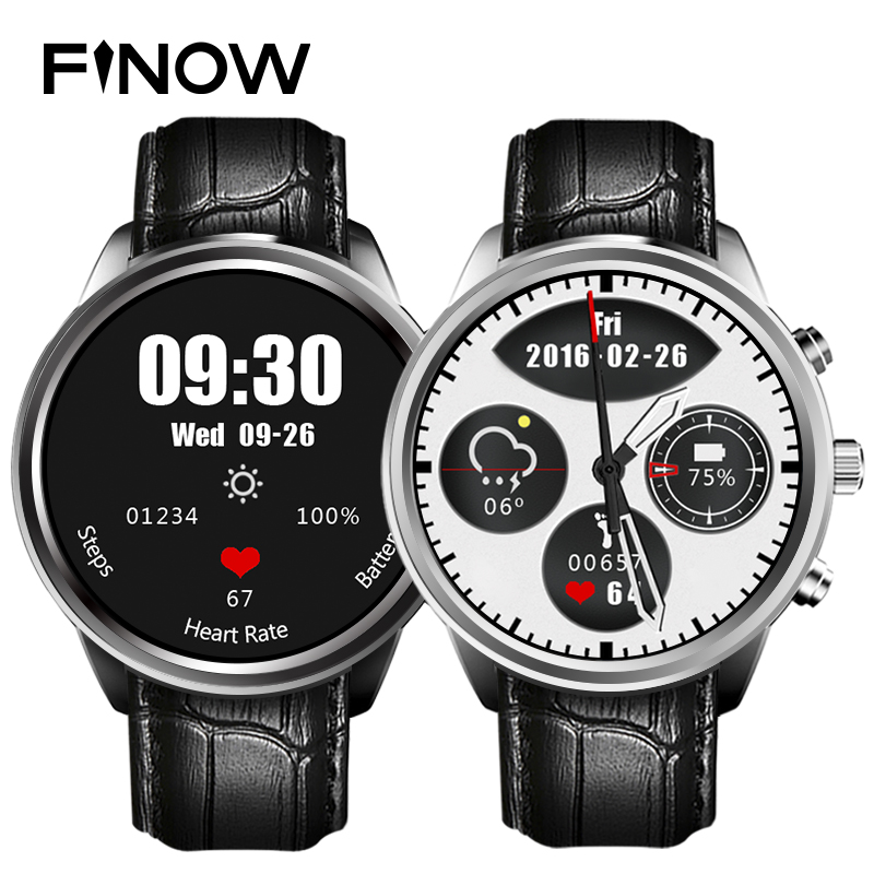 Finow X5 Smart Watch Phone support Android 4.4 MTK6572 512mb / 4GB SIM card Wifi bluetooth GPS smartwatch for huawei apple phone luxury v360 smart watch update dm360 mtk2502a bluetooth smartwatch support dutch hebrew for apple iphone huawei android phone