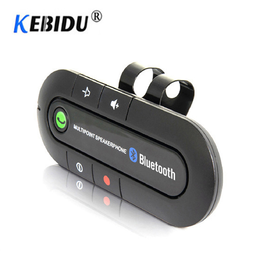 Bluetooth 4.0 Receiver Handsfree Car Kit  Sun Visor Clip Audio Adapter Wireless Multipoint Speakerphone Auto Stereo Mp3 Player