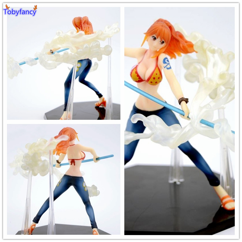 Tobyfancy One Piece Nami Action Figures Battle Version PVC Toys Onepiece Figure Collectible Toys for Kids Boys
