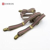 Braces Men New Vintage Suspenders Arrival Popular Vintage Suspenders General Elastic Suspenders Basic Bronze Color Clip