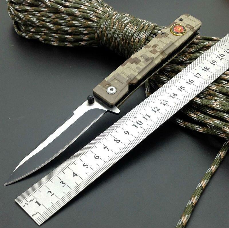 420J2 Blade New Folding font b Knife b font Titanium Coating G10 Handle WM Boker Pocket