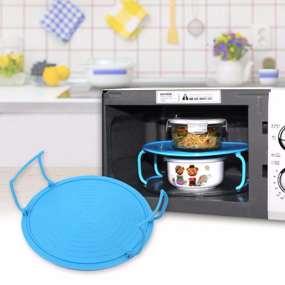 Multifunction Microwave Oven Shelf Insulated Heating Tray Rack Bowls ...