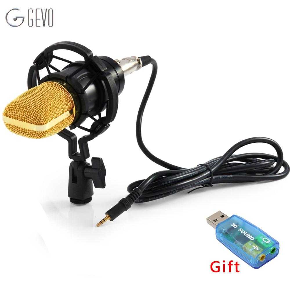 BM 700 profesional Cable de micrófono de mano 3,5mm condensador con montaje de choque micrófono para grabación de computadora Microfono BM700