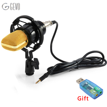 BM 700 Professional Wired Handheld Microphone 3.5mm Condenser With Shock Mount Microphone For Recording Computer Microfono BM700