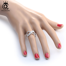 Popular Finger Infinity Ring AAA Austrian Cubic Zirconia Rings