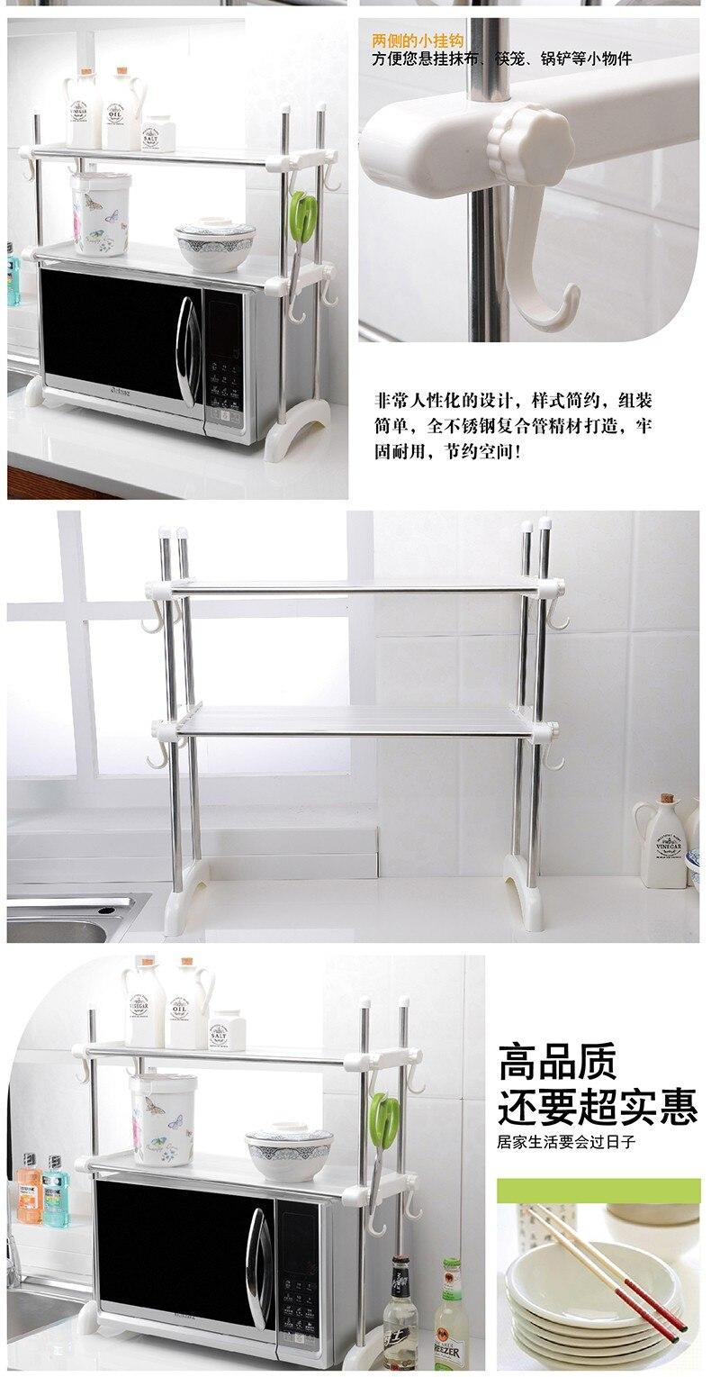 des ustensiles de cuisine accessoires multi but micro ondes four fil etagere de rangement 3 pneus mircrowave four rack maison decor