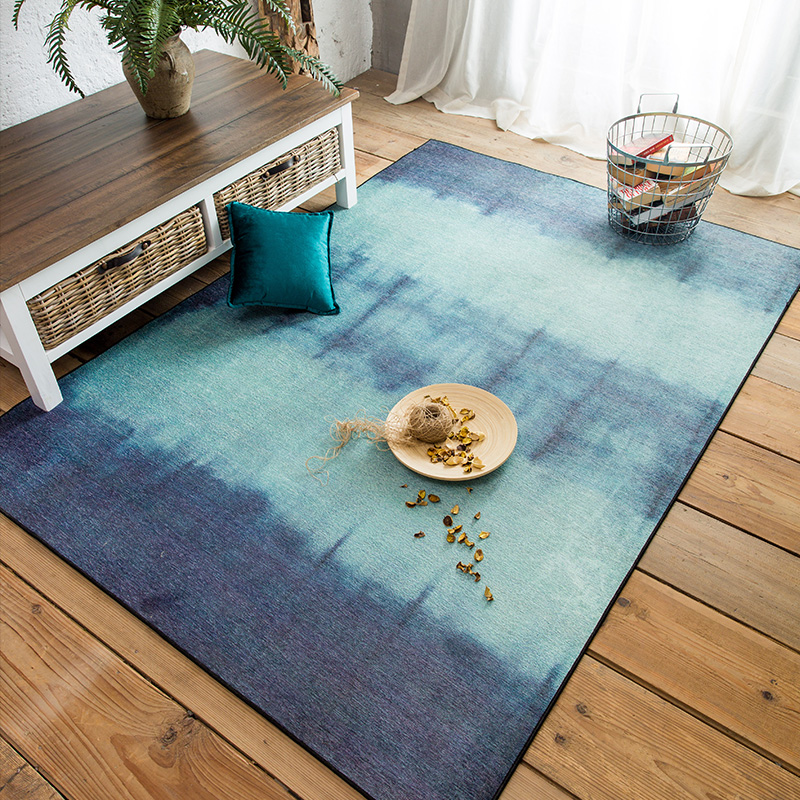 Style japonais bleu créatif salon chambre porte Rose, tapis de luxe romantique. Tapis et tapis dans le salon