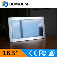 18.5 inch USBRS232 rugged tablet industrial touch screen panel pc with Resolution 1366×768 Intel D525 1.8GHz