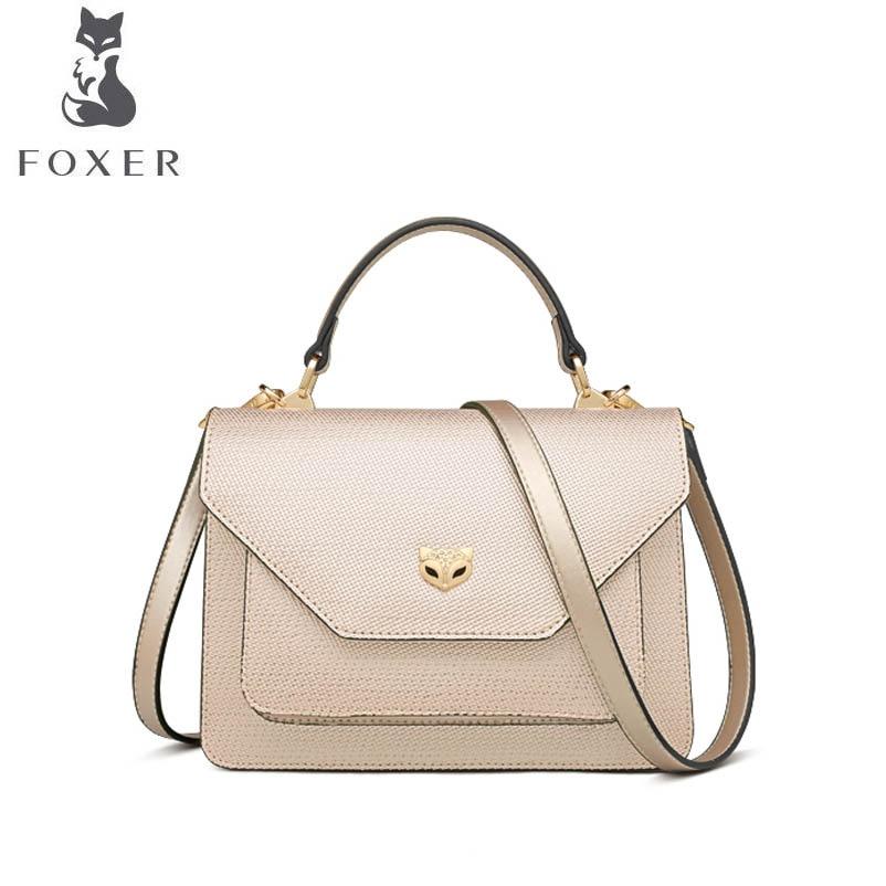 купить FOXER brand bag female 2018 new Korean fashion crossbody handbag Stylish shoulder bag недорого