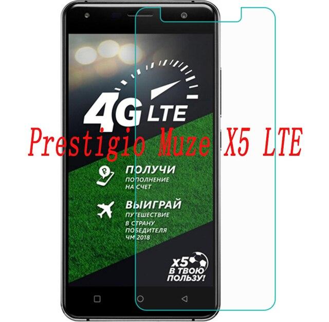 2 piezas nuevo Protector de pantalla del teléfono para Prestigio Muze X5 LTE Teléfono de cristal templado de teléfono inteligente película protectora cubierta de la pantalla