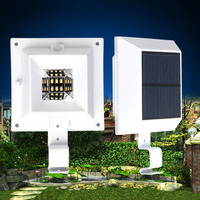 Bright 6 LED Solar Powered Light Waterproof Security Roof Gutter Light Auto On Off Wall Lamp