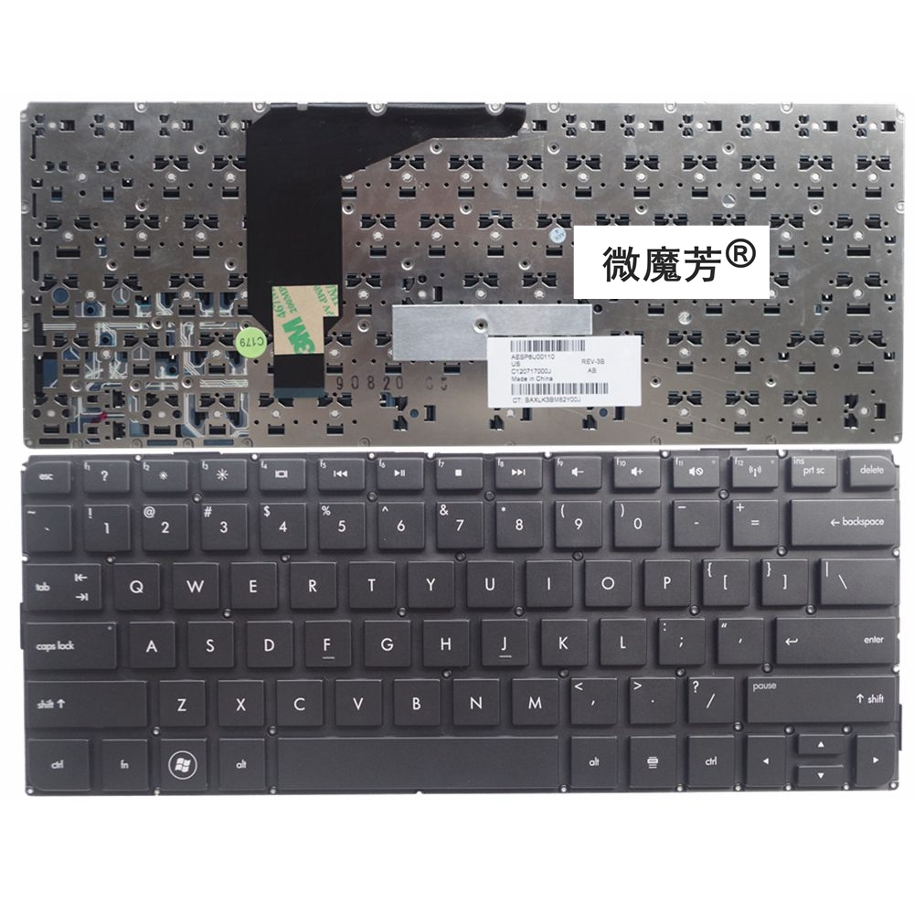 US Black New English Replace laptop keyboard FOR HP FOR Envy13 FOR Envy 13 13-1002TX 13- ...