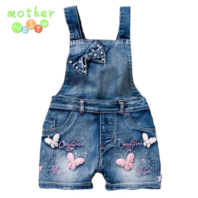2018 SPRING Summer US Style Girl Jumpsuit Cute Sweet Fashion Washed Jeans Denim Romper Jumpsuits Straps Short Pants Cowboy Blue beswlz brand men denim jeans straight slim male cowboy jeans pants fashion classical casual style men blue jeans 9521