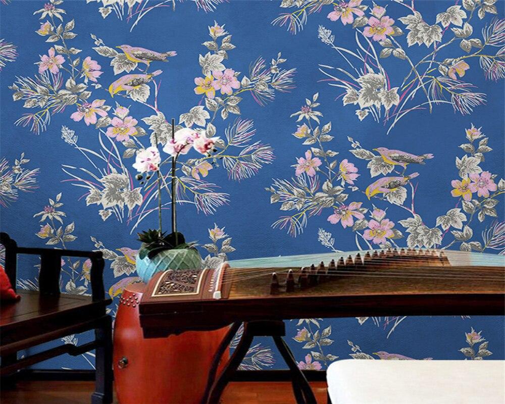 Beibehang moderne minimaliste style rustique japonais petit floral chaud chambre salon nordique papel de parede 3d papier peint