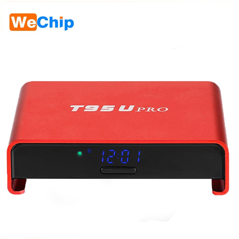 цена на T95U Pro 2G+16G 3G+32G Amlogic S912 OCTA Core Android 6.0 Smart TV Box 4K HD Dual Wifi Bluetooth 4.0 T95Upro Set Top Box PK H96