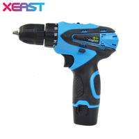 XEAST 12 V Electric Screwdriver Cordless Drill Mini Wireless Power Driver DC Lithium Ion Battery 2 Speed