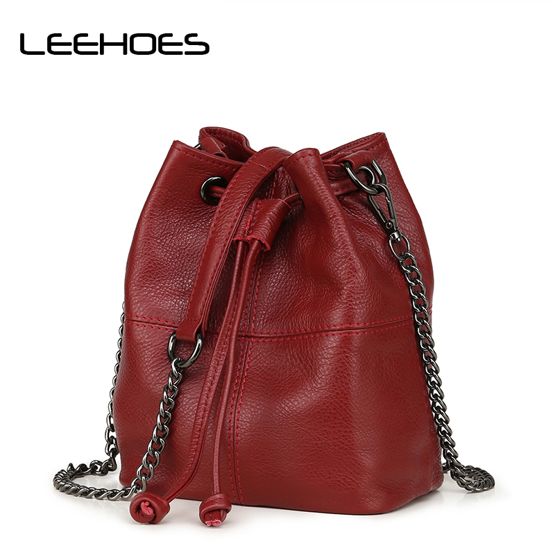 Newest Fashion Bucket Bag Summer Women Genuine Leather Shoulder Bag Lady Soft Real Leather Cross Bag Simple Messenger Bag mj brand design women genuine leather bags fashion real cowhide leather shoulder bag lady small cross body bucket messenger bag