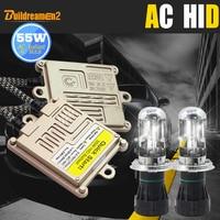Buildreamen2 55W H4 Hi/Lo Auto HID Xenon Kit AC Ballast Bi Xenon Lamp Harness Wire 3000K 12000K Conversion Car Light Headlight