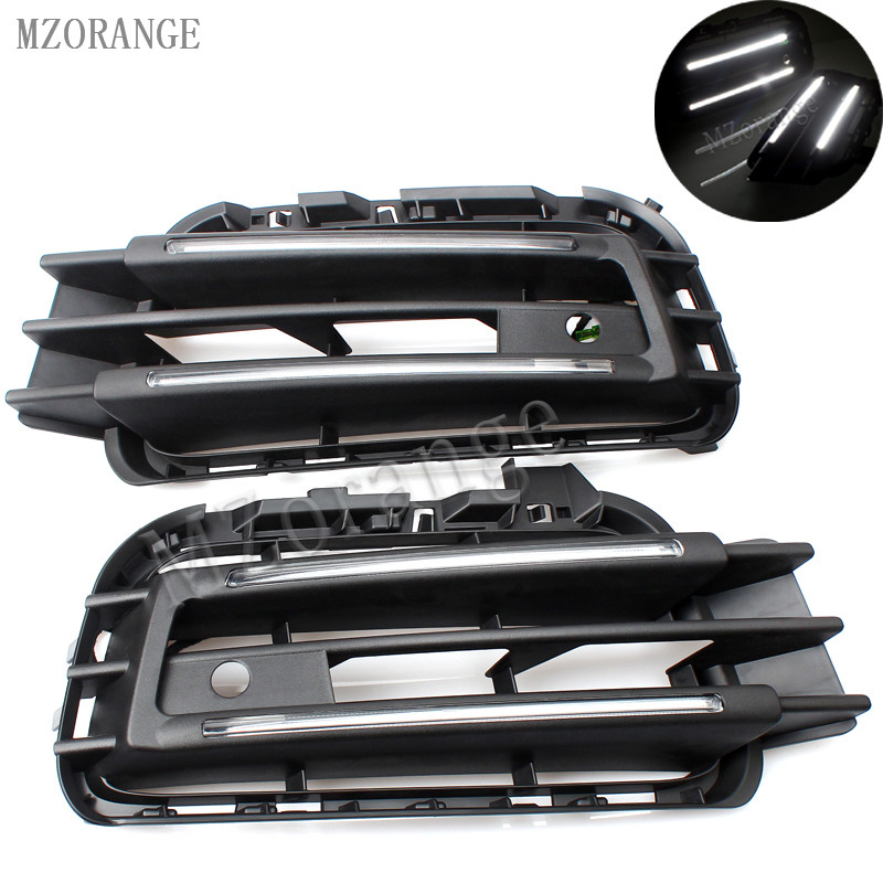MZORANGE led fog lamps daytime running light car styling For VW for touareg LED DRL For touareg High brightness guide LED DRL цена