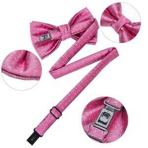 Image 5 - DiBanGu/Лидер продаж, 3 предмета, галстук бабочка шелковые галстуки бабочки, модные галстуки бабочки для маленьких детей, галстук бабочка, синий, красный, зеленый, галстук бабочка