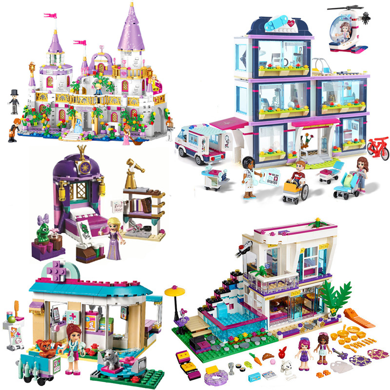 NEW Friends Heart Lake City Park Hospital Girl Livi's House Building Blocks Compatible <font><b>LegoINGlys</b></font> 41318 41135 Sets Toys For Girl image