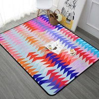 100*150cm Thick Floor Mat Carpet Modern Purple Red Blue Geometric Rug For Living Room Bedroom Parlor Area Rugs Home Decorative