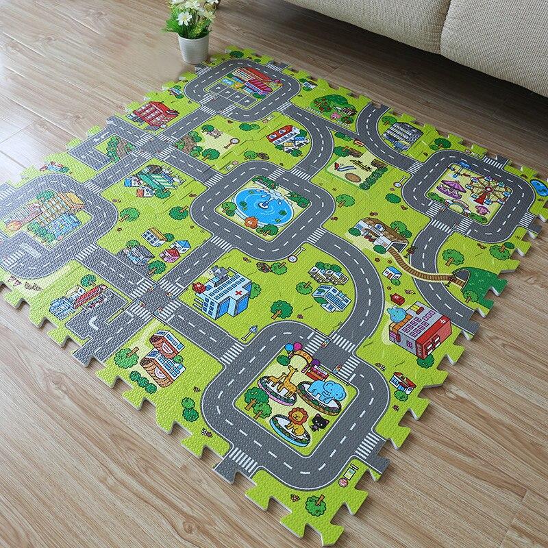 9Pcs 30 30cm EVA Plush Puzzle Mats DIY Foam Baby Play Mat Split Joint Baby Carpets Innrech Market.com
