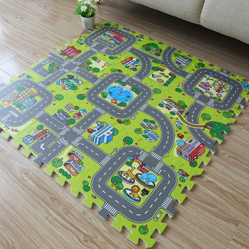 9Pcs 30*30cm EVA Plush Puzzle Mats DIY Foam Baby Play Mat Split Joint Baby Carpets For Carpets Mat Indoor