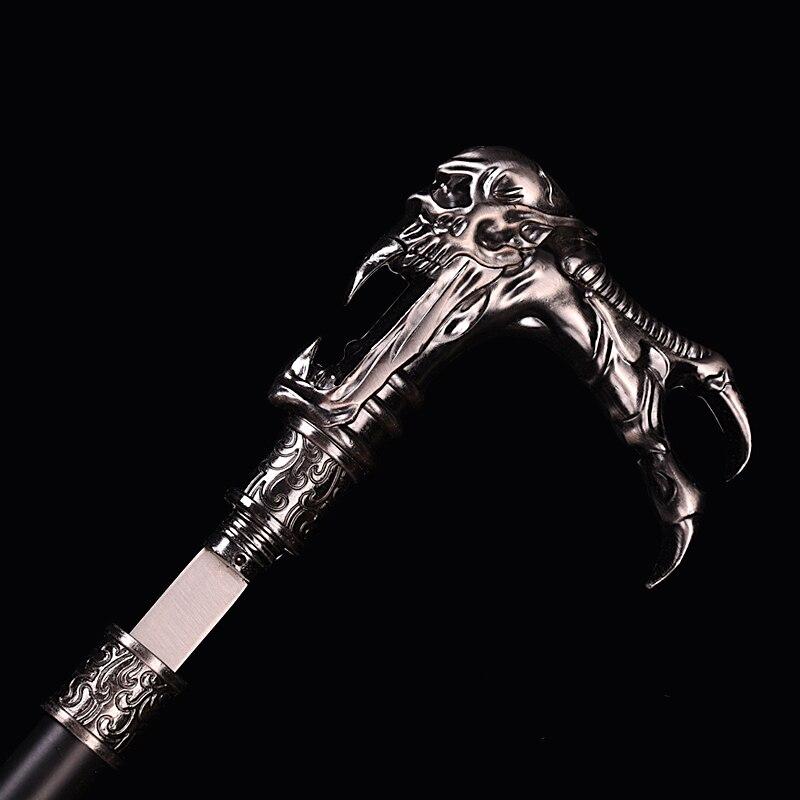 Les appareils d'auto-défense, l'épée de tête d'palombe, peuvent être utilisés comme canne en métal de décoration intérieure d'alpenstocks