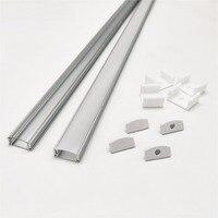 HAMRVL 2-10 sets/lot 0.5 m 12mm strip led aluminium profiel voor lichte bar, kanaal, platte behuizing