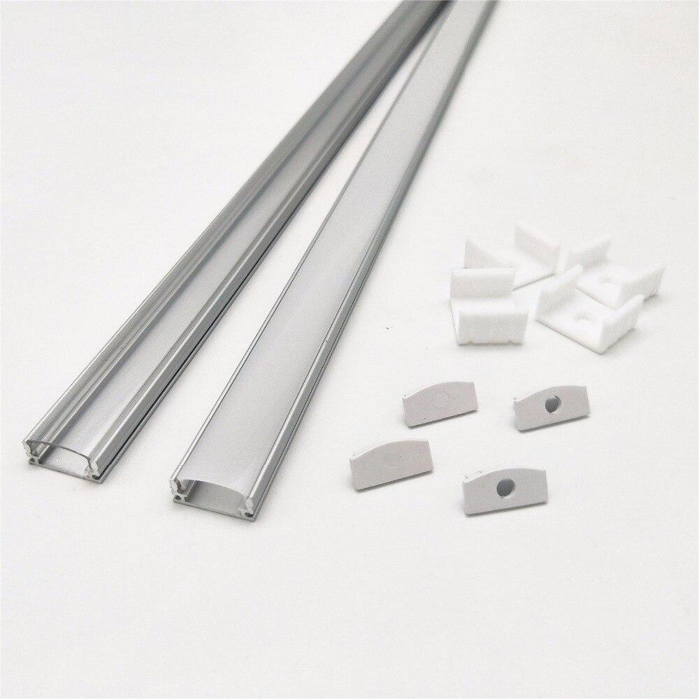 HAMRVL 2-10 sets / lot 0.5m 12mm strip led aluminum profile for  light bar,   channel, flat  housingHAMRVL 2-10 sets / lot 0.5m 12mm strip led aluminum profile for  light bar,   channel, flat  housing