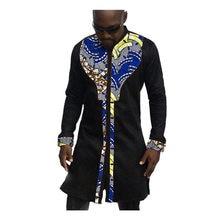 54d31de8347 Африканский принт мужские рубашки модная мужская рубашка мужской Дашики  Анкара хлопок и воск лоскутное длинная стильная