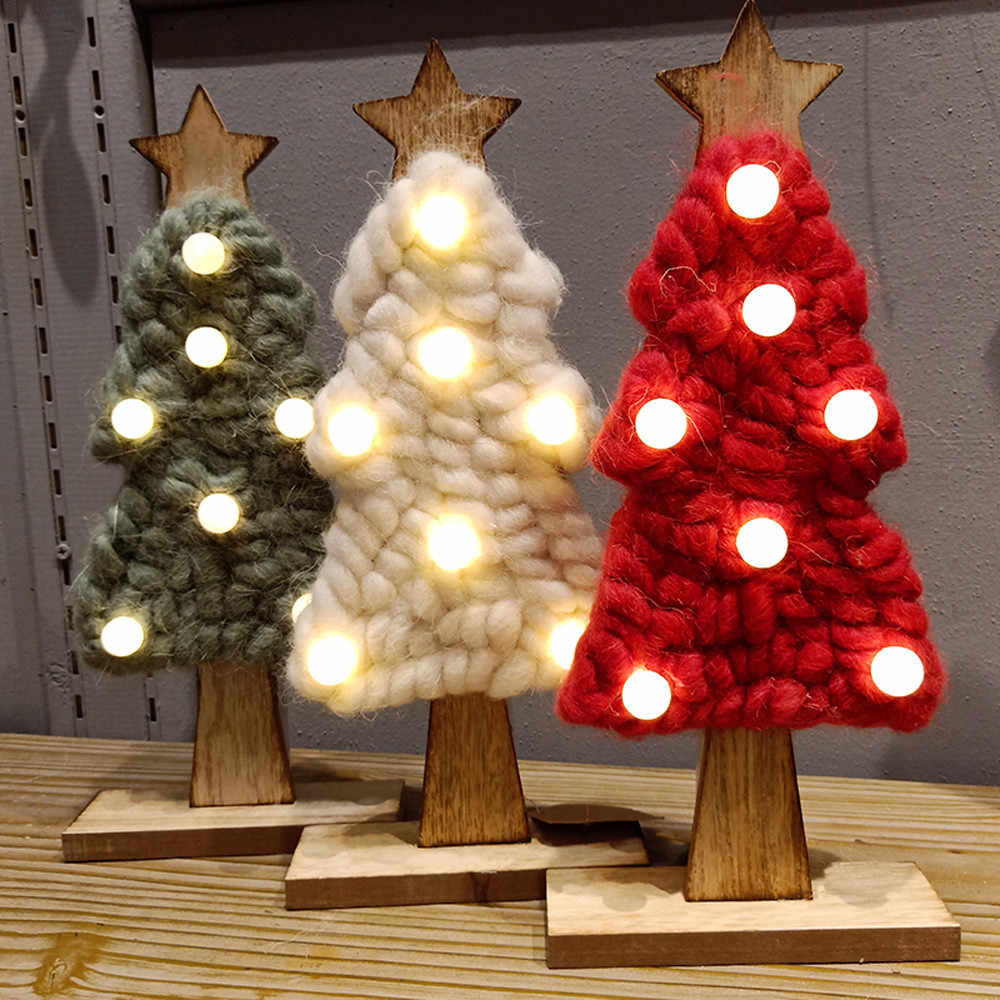 Easy Outdoor Christmas Decorations 2019.Illuminate Christmas Tree Pattern Led Felt Christmas Gifts For 2019 New Year Lights Outdoor Indoor Xmas Lamp Home Decor 10oct 11