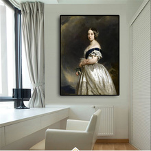 Big size Young Queen Victoria Portrait Oil Painting on Canvas Posters and Prints Scandinavian Wall Art Picture for Living Room becoming queen victoria