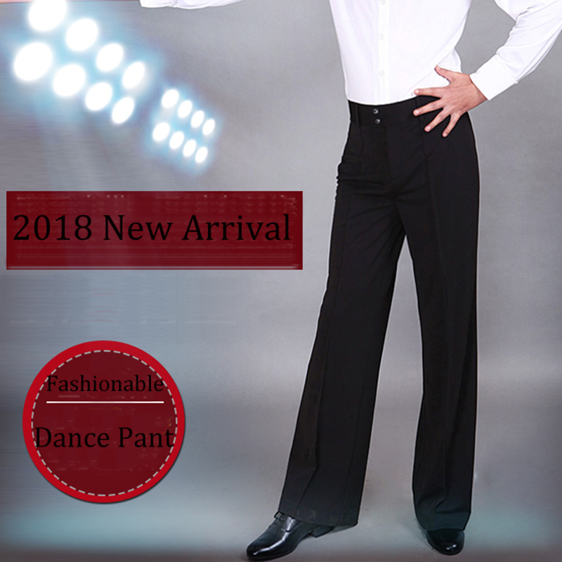 2018 High Quality Latin Dance Pant For Male Black Color Fringe Pant Men Square Chacha Professional Ballroom Tango Trousers N7056