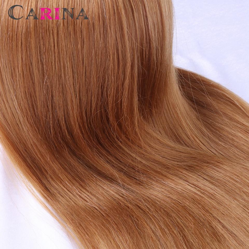 50-55 CM 80% Goldene Natürliche Haar Schaufensterpuppe Kopf Haar - Kunst, Handwerk und Nähen - Foto 4