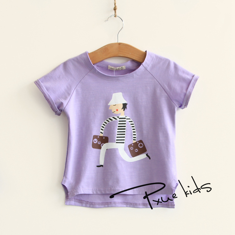 97a23f2a8 Jchao shirttees الأطفال قميص الفتيان تي قصيرة الأكمام قمصان الصيف الاطفال  قمم الكرتون طفل الفتيات الملابس القطنية 4 ألوان