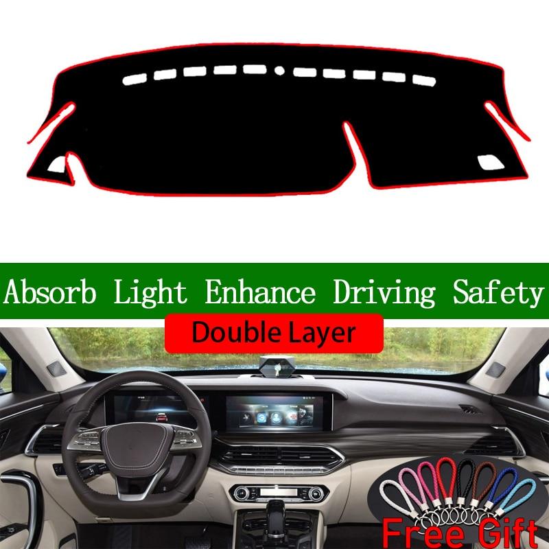 Pegatinas de doble capa para coche besturn T77 2019 cubierta de salpicadero accesorios de coche Interior Anti-UV calcomanías de coche