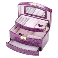 GUANYA Large Jewellery Gift Box Storage Organizer Bracelet Ring Necklace Display Case