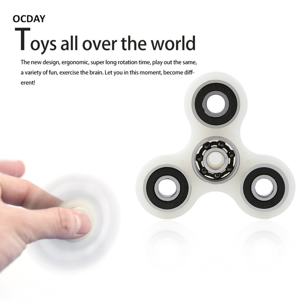 OCDAY Hand Spinner Spiral Finger Ashen Luminous Attractive Shell Steel Material Professional Toy For Autism Fidget Spinner Metal