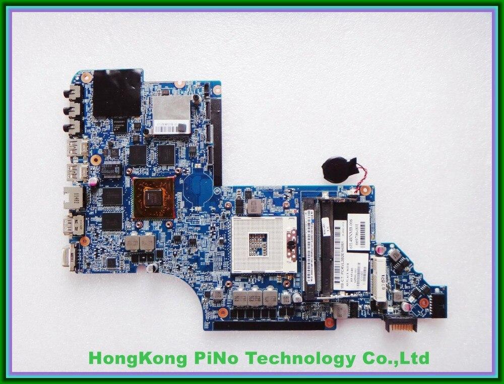 For HP DV7 DV7-6000 Notebook motherboard 665991-001 HM65 6770/2G QUA- DSC 100% Tested 60 days warranty 655488 001 for hp dv7 dv7 6000 hm65 hd6770 2g laptop motherboard 100